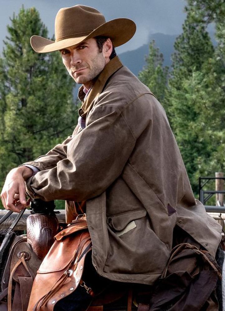 jamie dutton yellowstone wes bentley leather jacket