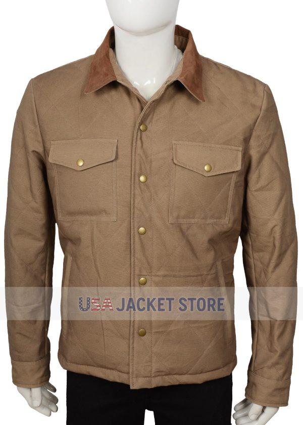 john dutton yellowstone josh lucas quilted jacket
