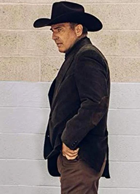 john dutton yellowstone kevin costner blazer coat