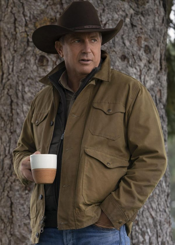 john dutton yellowstone kevin costner vintage style cotton jacket