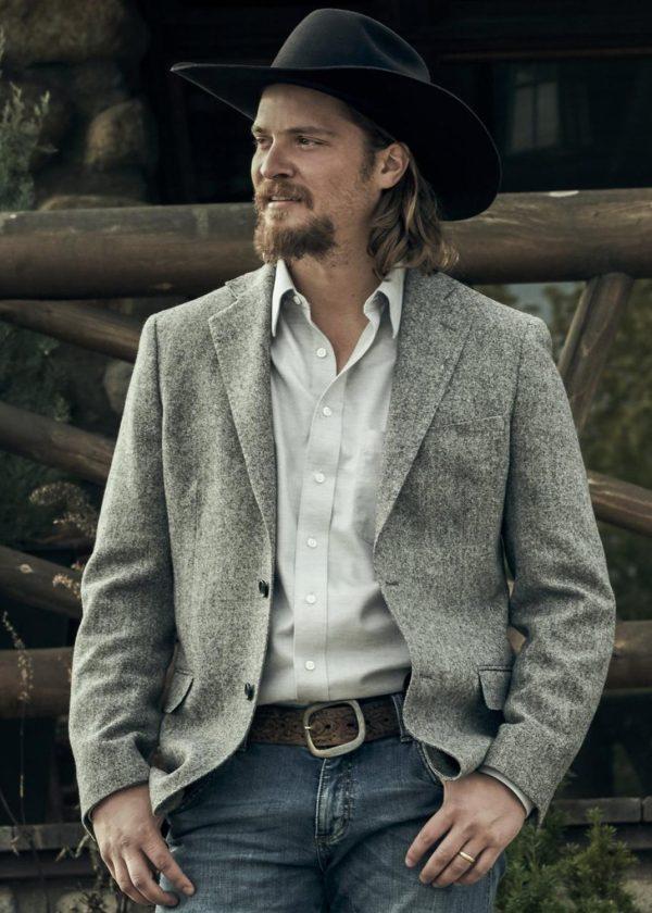 kayce dutton yellowstone luke grimes blazer coat
