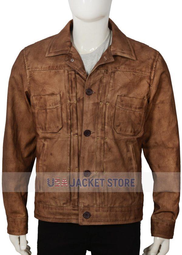 kayce dutton yellowstone luke grimes waxed cotton jacket