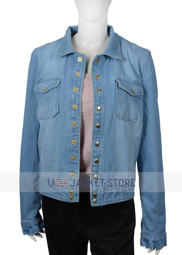 monica dutton yellowstone kelsey chow cotton denim jacket