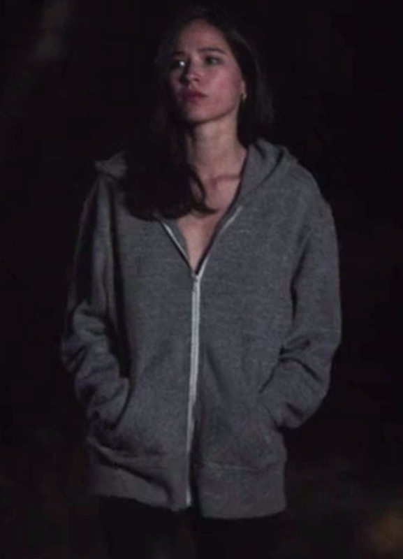 monica dutton yellowstone kelsey chow grey hoodie jacket