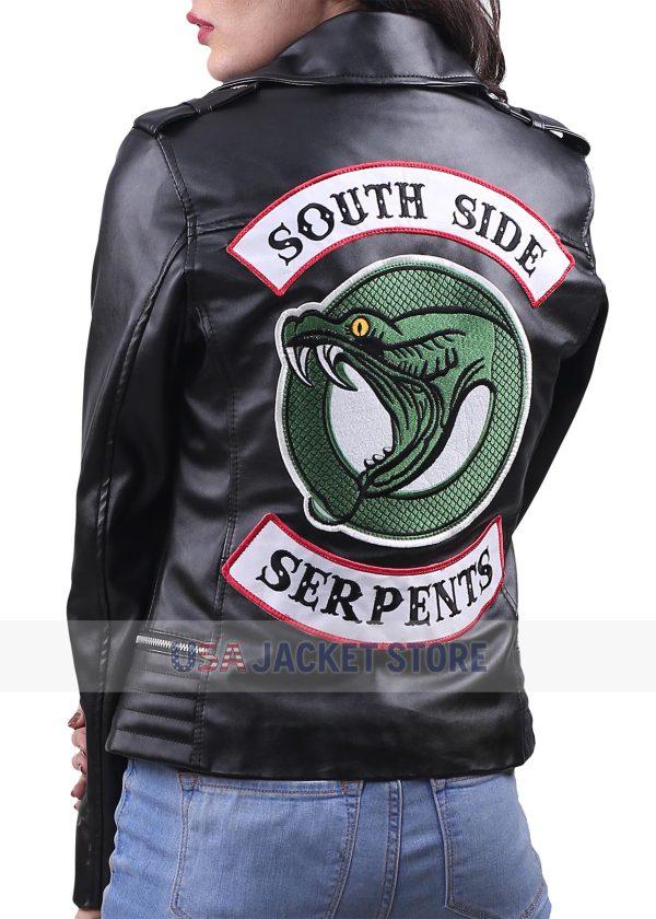 riverdale southside serpents black women jacket