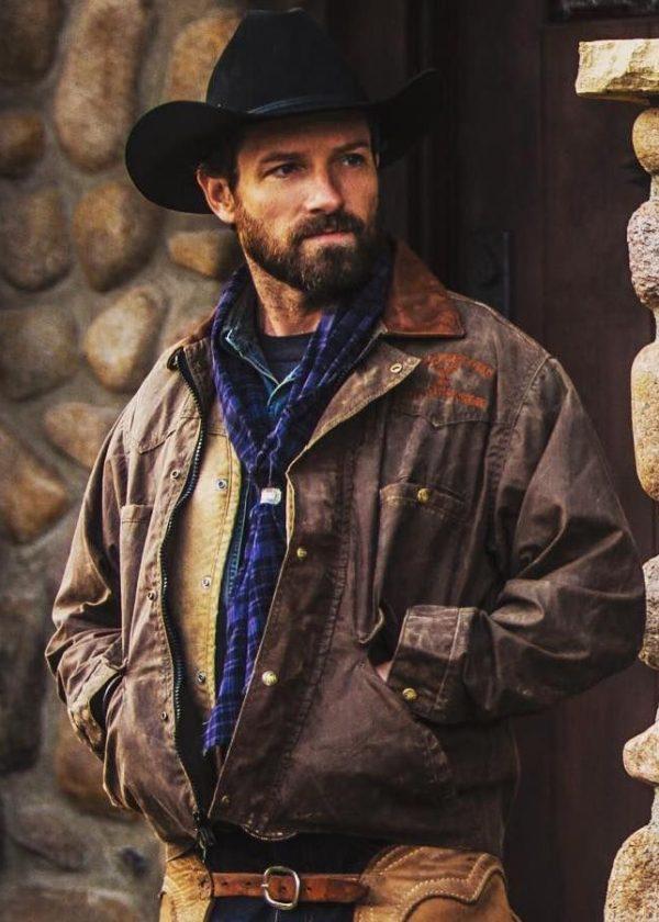 ryan yellowstone ian bohen leather jacket