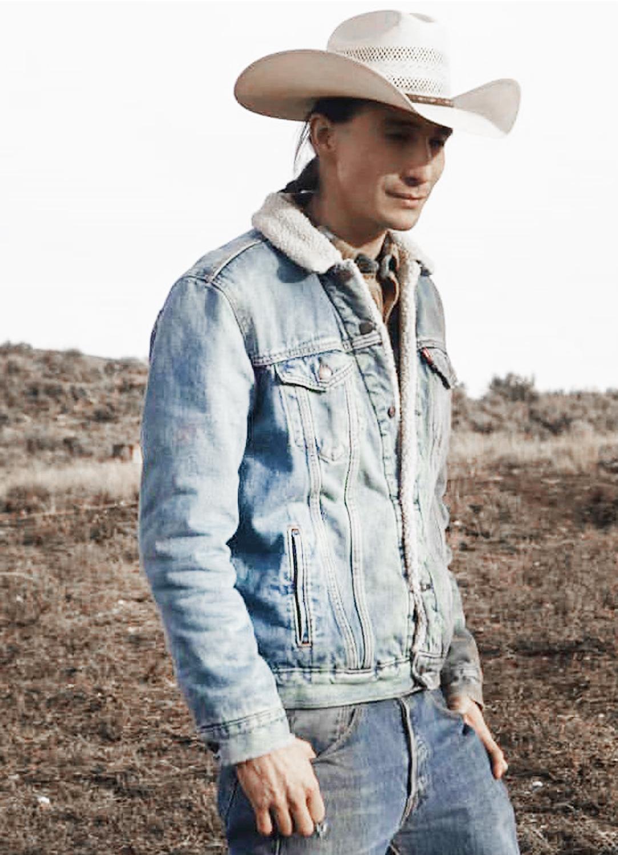 sam stands alone yellowstone gerald tokala denim jacket