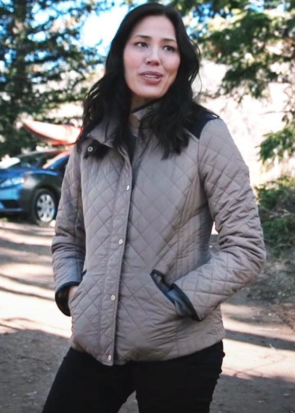 sarah nguyen yellowstone michaela conlin quilted jacket