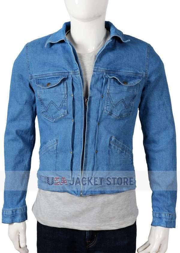 Brad Pitt Once Upon A Time In Hollywood Cliff Booth Denim Jacket