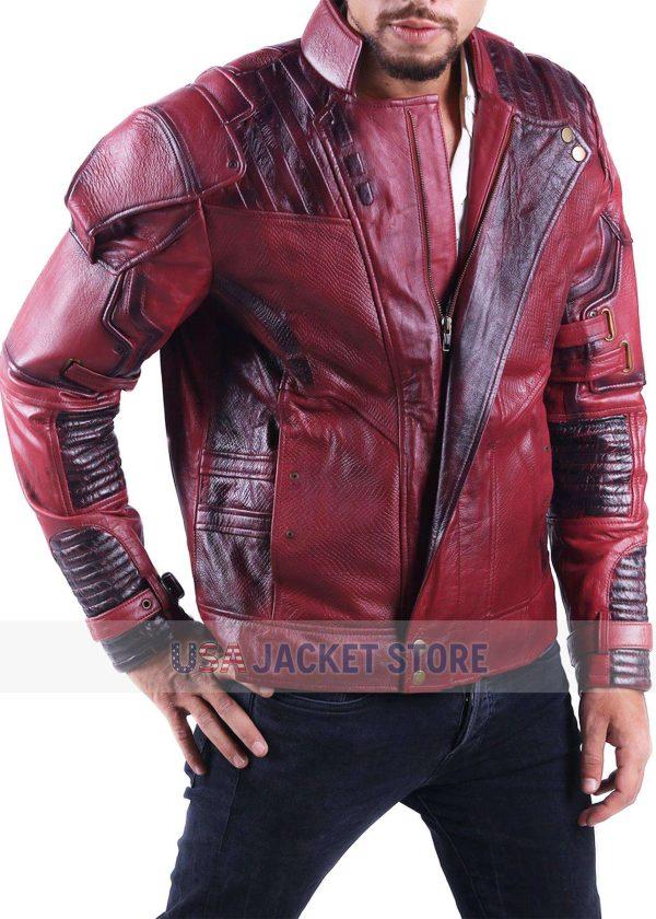 Chris Pratt Star Lord Guardians Of The Galaxy 2 Leather Jacket