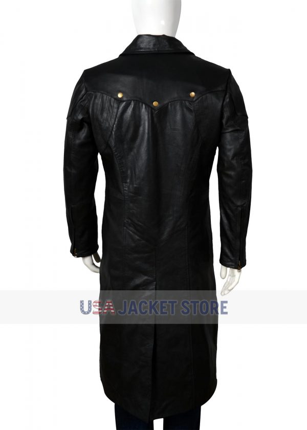Dante Devil May Cry 5 Black Leather Coat