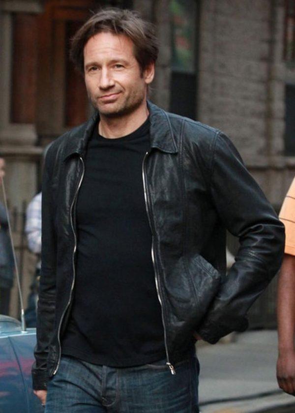 David Duchovny Californication Hank Moody Season Leather Jacket