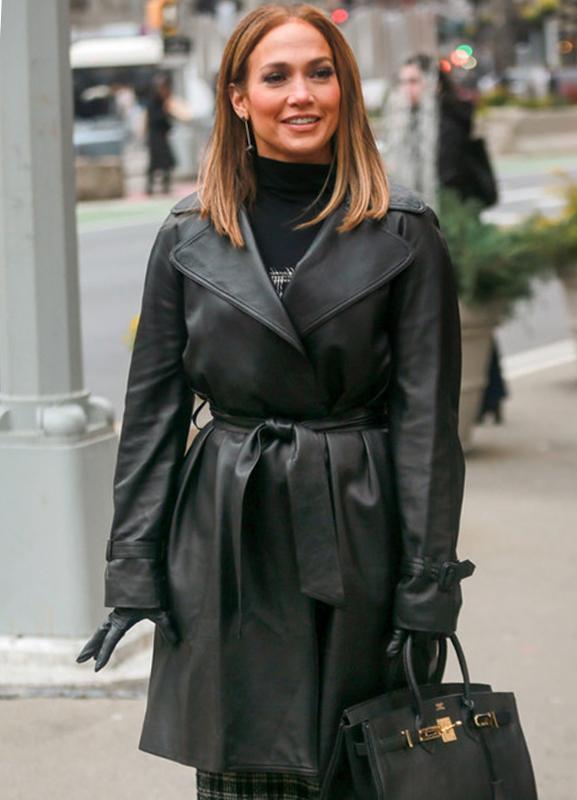 Jennifer Lopez Second Act Maya Leather Coat