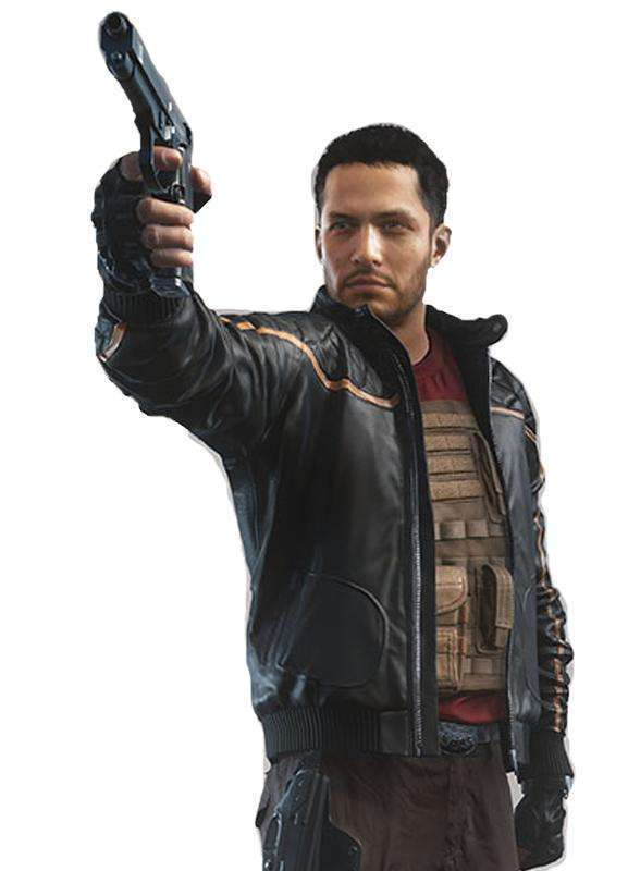 Nick Mendoza Battlefield Hardline Bomber Leather Jacket