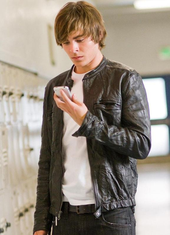 Zac Efron 17 Again Mike O Donnell Leather Jacket